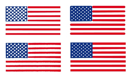 Various set of USA flags. Stock Vector - 9380948