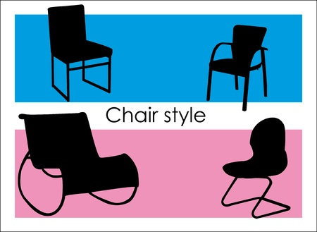 Design background with chair and color frames. Stock Vector - 9380905