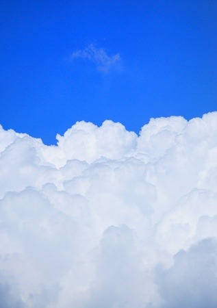 Blue sky with nice white clouds. photo