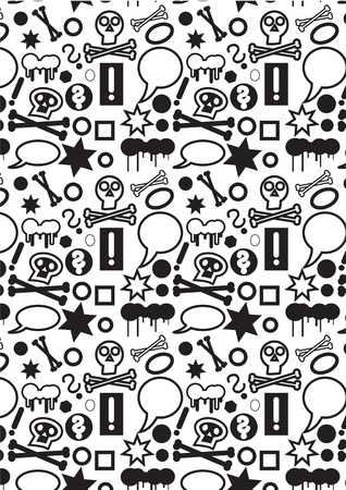 Seamless pattern background with a lot of small icons. Vector