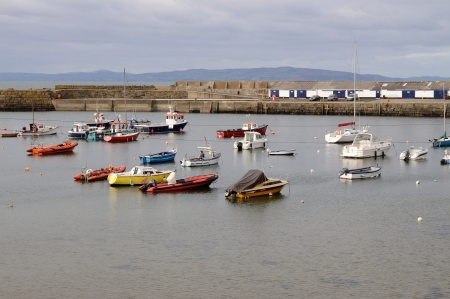 inshore: Small harbor in inshore town Portrush - Northern Ireland