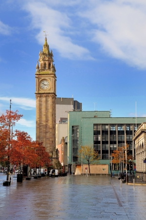 Albert Memorial Clock tower at Belfast, Northern Ireland