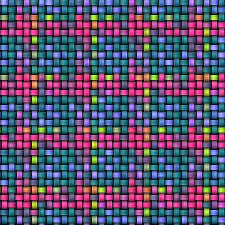 rattan: Colorful abstract intertwined rattan seamless texture.