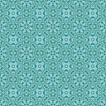 greenish blue: Greenish-blue abstract mosaic contains small tiles with star shape.