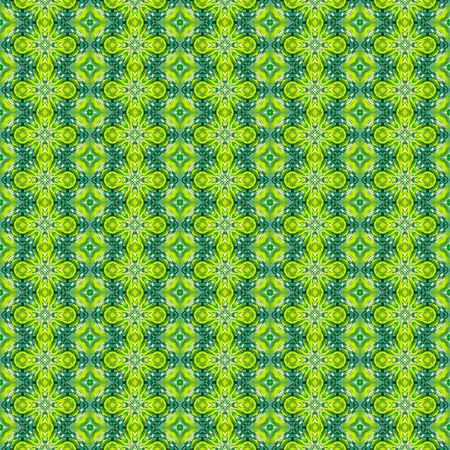 background kaleidoscope: Abstract green seamless background. Kaleidoscope background. Stock Photo
