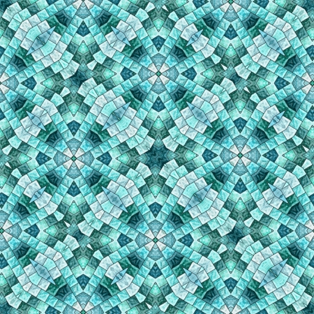 background kaleidoscope: Abstract blue seamless background. Kaleidoscope background with tiles.