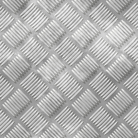 diamond plate: Illustration of the diamond metal plate with ribs. Stock Photo