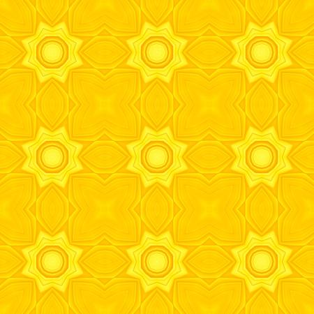 blumen abstrakt: Gelbes Kaleidoskop Blumen abstrakte nahtlose Hintergrund Abbildung.