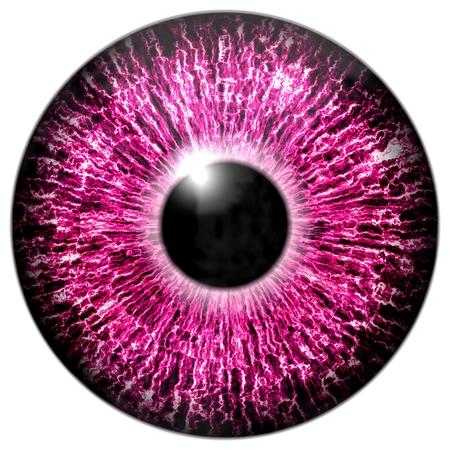black eye: Illustration of a purple eye with light reflection on a white background.