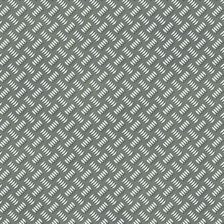 silver metal: Illustration of the seamless silver metal plate with rib pattern. Illustration