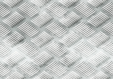 ribbed: The ribbed silver metal plate surface texture.