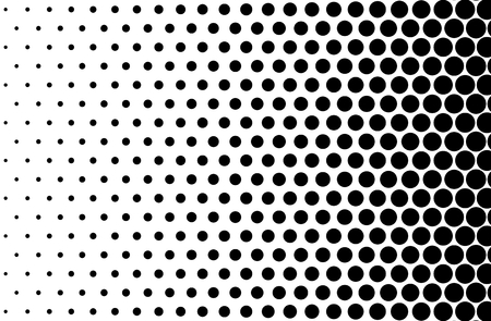 Basic halftone dots effect in black and white color. Halftone effect. Dot halftone. Black white halftone. Halftone background. Right to left. Imagens - 56441182