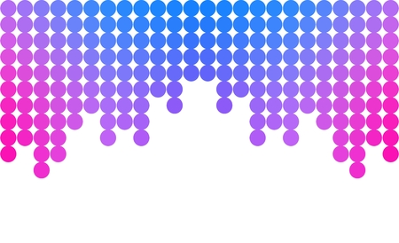 other space: Template with colorful dots on top and with blank space at the bottom. Blank space is good for placing some text and other.