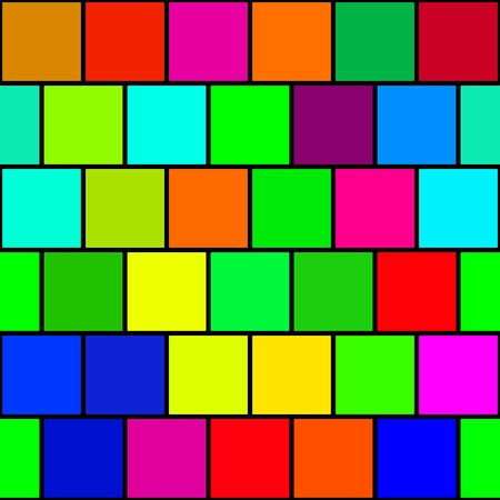 reminiscent: Squares multicolor vintage or retro background. Old time texture reminiscent 8 bit graphics. Stock Photo