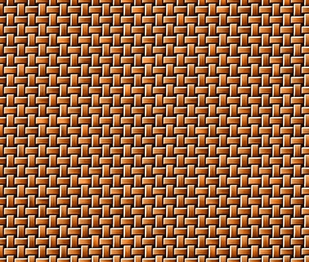 rattan: Closeup view of brown rattan knitted texture.