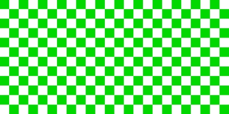Green and white checkerboard squares seamless pattern.