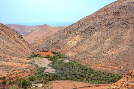 View of beautiful mountain scenery of Fuerteventura island. Reklamní fotografie