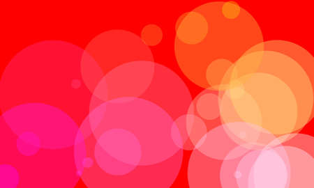 Colorful circle and bokeh abstract background in vivid colors.