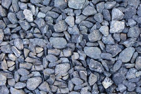 Background of gray gravel. Full frame gray gravel texture and pattern. 스톡 콘텐츠