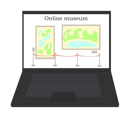 going to the museum online. viewing sights on a computer. presentations. online exhibitions. viewing art remotely. nexhibition of paintings