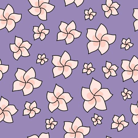 Pattern with exotic flowers. hand draw. printing on postcards, printing on clothing and paper. Background for website or photo. gift decoration Иллюстрация