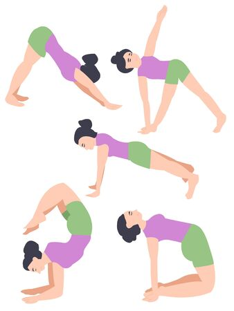 Yoga poses. home practice. girl leads an active lifestyle. active lifestyle. hobbies for the whole family. yoga lessons