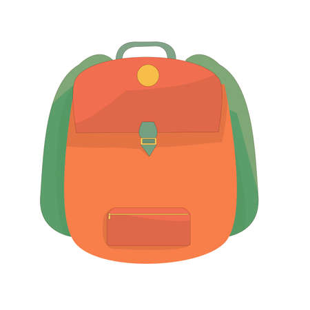 schoolboy backpack. school supplies. the beginning of the school year. camping backpack. tourism