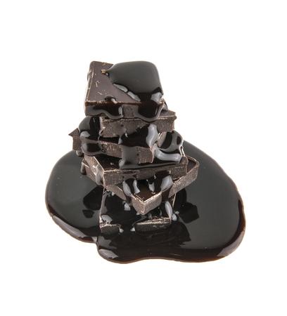 Chocolate isolado no fundo branco Foto de archivo - 79287175