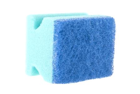 foam rubber sponge for washing isolated on white background Stock Photo