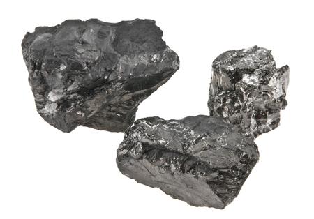 coal isolated on white background Archivio Fotografico