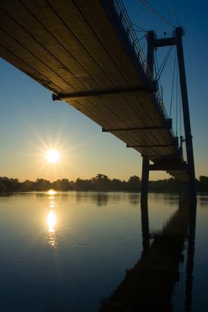 sunsets: Bridges and sunsets Stock Photo