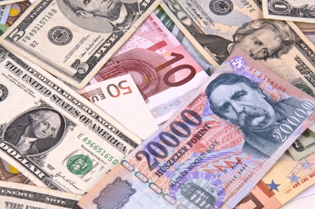 Euro, Dollar and Forint