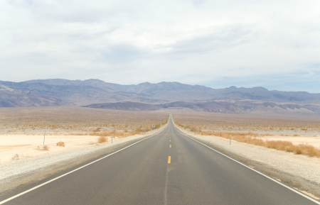 Road in Death Valley Stock Photo