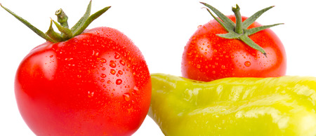 solated: solated Tomatoes and pepper Stock Photo