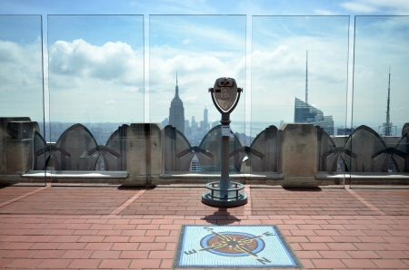 On the roof of the Rockefeller Center