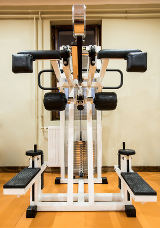 Interior view of a gym with equipment  photo