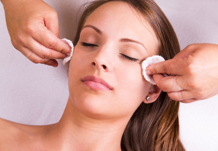Woman is having cosmetic treatment at beauty salon