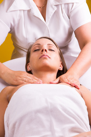 chemical peels: Woman is having cosmetic treatment at beauty salon