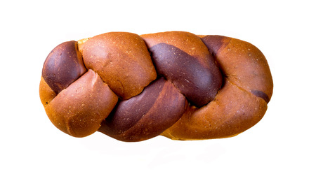 Braided loaf. Isolated shot. photo