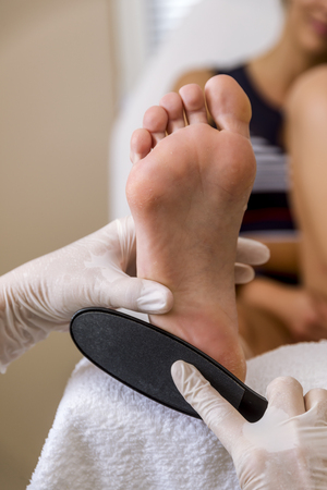 Podiatry doctor. Treatment of feet and nails.