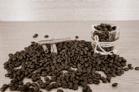 decaf: coffee aroma mix Stock Photo