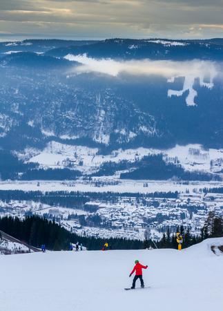 Hafjell ski in Norway