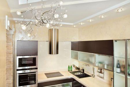 Modern Kitchen interior in warm tones Stock Photo - 7262161