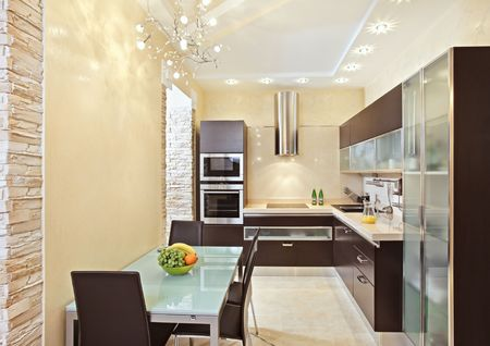 cupboards: Modern Kitchen interior in warm tones