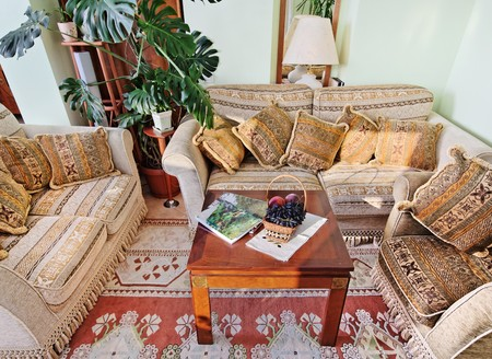Part of classic drawing-room inter with baroque style furniture and fruits basket Stock Photo - 7504445