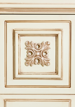 Fragment of beige wooden furniture tile with flower pattern Stock Photo - 8566945