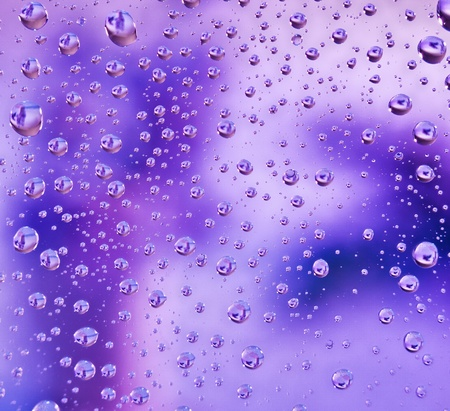 Abstract translucent water drops background, macro view photo
