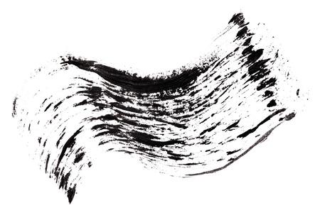Stroke (sample) of black mascara, isolated on white macro Stock Photo - 9567843