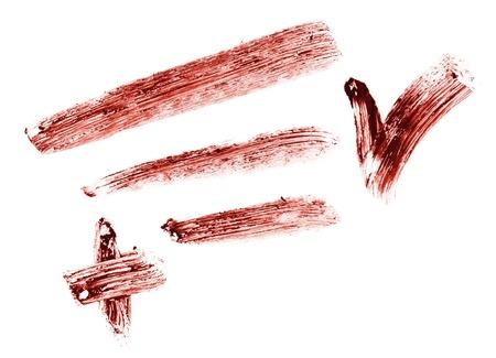 Stroke of eye shadow pencil, isolated on white macro photo