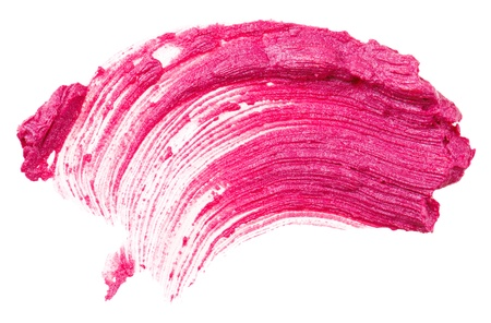 verschmieren: Rote Lippenstift Strich (Probe), isoliert auf weiss